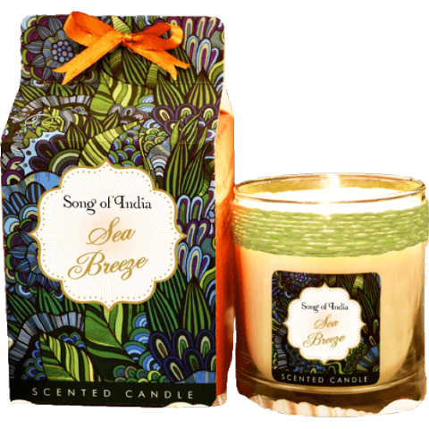 Sea Breeze Soy Wax Candle in Glass